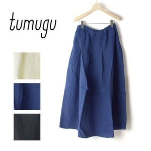tumugu (ツムグ)ウォッシュドリネンスカート TB16119|womanremix
