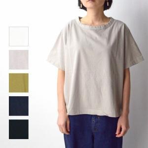 tumugu ツムグ スープレコットン天竺 半袖Tシャツ TC19101 womanremix