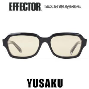 エフェクター EFFECTOR YUSAKU ユーサク ブラック 松田優作 サングラス メガネ 眼鏡 アイウェア|womanremix
