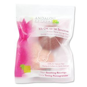 ANDALOU センシティブ こんにゃく洗顔スポンジデュオ、2個パック アンダルー|womensfitness