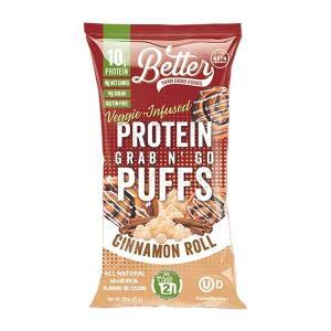 [NEW] BTG プロテインコーテッドパフ シナモンロール味 6袋セット Better Than Good Foods(ベターザングッドフーズ) womensfitness