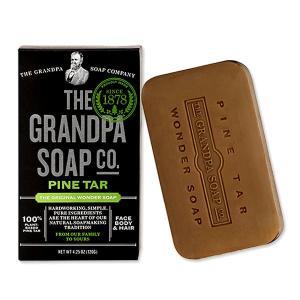 Grandpa's オリジナルワンダーソープ 松ヤニ固形石鹸 フェイス&ボディ&ヘア 120g(4.25oz) グランパ womensfitness