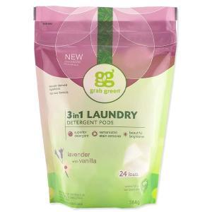 3in1 洗濯洗剤ポッド ラベンダーwithバニラ 24個 432g(15.2oz)grab green(グラブグリーン)|womensfitness