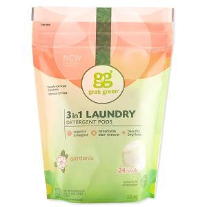 3in1 洗濯洗剤ポッド ゼラニウム 24個 432g(15.2oz)grab green(グラブグリーン)|womensfitness