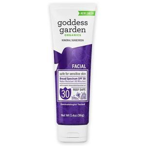 Goddess Garden オーガニックナチュラルサンスクリーン 顔用 SPF30 96g(3.4oz) ゴッデスガーデン|womensfitness