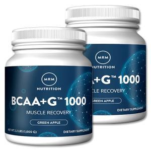 BCAA+G 1000 お得サイズ1kg  グリーンアップル2個セット《154回分×2個》 MRM 分岐鎖アミノ酸 womensfitness