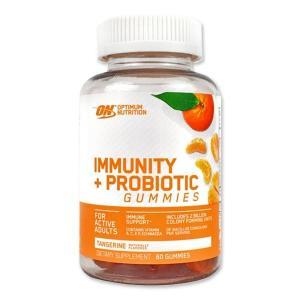 訳あり 期限間近 [NEW] IMMUNITY+PROBIOTIC グミ タンジェリン味 60粒 Optimum Nutrition(オプチマムニュートリション)|womensfitness