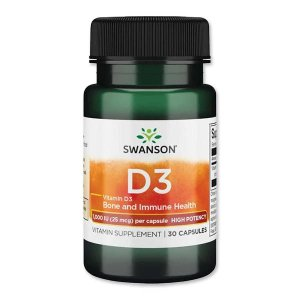 [NEW] ビタミンD3-ハイポテンシー 1000IU(25mcg) 30粒 スワンソン(Swanson)|womensfitness