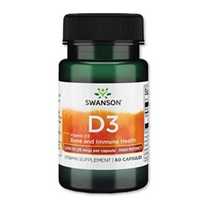 [NEW] ビタミンD3-ハイポテンシー 1000IU(25mcg) 60粒 スワンソン(Swanson)|womensfitness