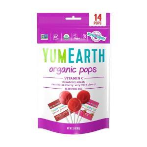 YumEarth オーガニック ビタミンCポップス 14本 □point
