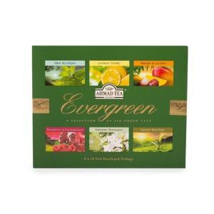 AHMAD TEA Evergreen エバーグリーンティー アソート 60袋(6種×10袋) セット アーマッドティー|womensfitness