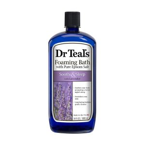 Dr Teal's ピュアエプソムソルト入り入浴剤 泡風呂 スーズ&スリープ ラベンダー 1000ml(34floz) (ドクターティールズ)|womensfitness