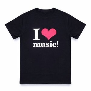 「安室奈美恵ラストライブ着用デザイン」 I LOVE music! Tシャツ BLACK  黒   WE ハート(LOVE)NAMIE HANABI SHOW 「12月30日発送予定」「キャンセル不可」