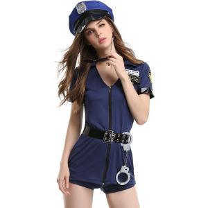 ハロウィン コスプレ スタイリッシュ ポリス 警官 警察官 衣装 レディース コスチューム Madrugada S291|wonder-house