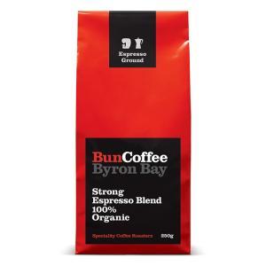 エスプレッソ オーガニックコーヒー 深煎り 豆 バンコーヒー  有機JAS認証 ACO認定 オーガニックストロングエスプレッソブレンド 250g|wonderfuroom