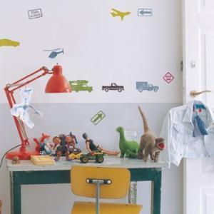 ウォールステッカー キッズ ボーイズ 乗り物 車 飛行機 こども部屋 シティトラフィック|wonderfuroom