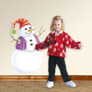 ウォールステッカー キッズ クリスマス 雪だるま メガサイズ ジャイアントスノーマン|wonderfuroom