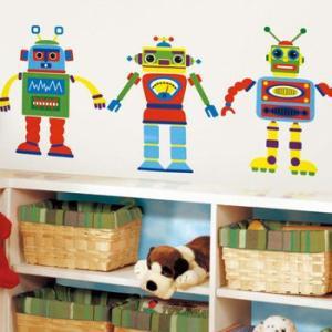 ウォールステッカー キッズ ボーイズ ロボット|wonderfuroom