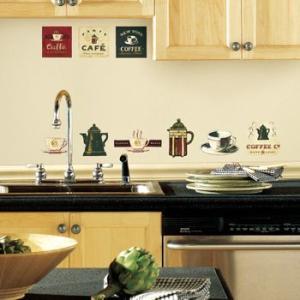 ウォールステッカー キッチン カフェ アンティーク コーヒーハウス|wonderfuroom