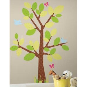 ウォールステッカー キッズ 植物 木 ドット柄 メガサイズ キッズツリー|wonderfuroom