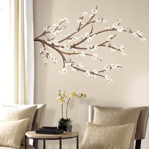 ウォールステッカー 3D 花 白 装飾 立体 シール インテリア ホワイトブロッサムウィズ3D ルームメイツ|wonderfuroom