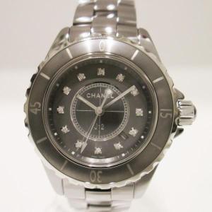時計 シャネル CHANEL J12 クロマティック H3241 12Pダイヤ 33mm 【中古】【あすつく】