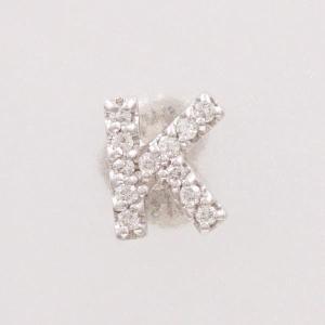 ピアス ポンテヴェキオ K18WG (片耳) ダイヤ 0.06|wonderprice
