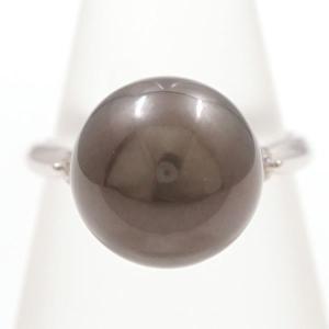 リング PT900 プラチナ 12.5号 パール 約12mm ダイヤ 0.10|wonderprice