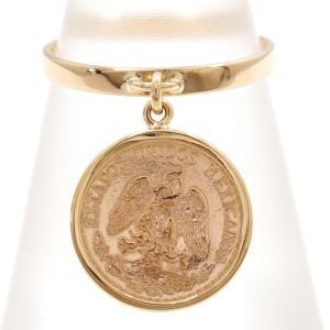 リング メキシコ ペソ 2ペソ DOS PESOS 総重量約3.2g コイン 金貨 K21.6YG K18YG 12号 地金|wonderprice