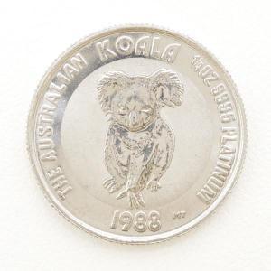 その他のアイテム オーストラリア コアラ 1 4oz 1 4オンス コイン 白金貨 PT1000 地金 総重量約7.7g|wonderprice