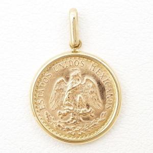ペンダントトップ メキシコ ペソ 2ペソ DOS PESOS コイン 金貨 K21.6YG K14YG 総重量約2g wonderprice