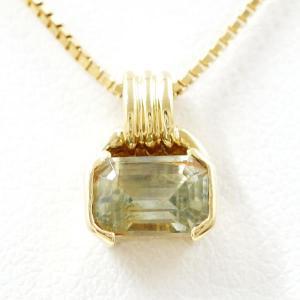ネックレス K18 18金 YG イエローゴールド 天然石 wonderprice