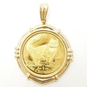ペンダントトップ マン島キャット 1/5oz 1/5オンス コイン 金貨 K24YG K18YG 総重量約9.1g|wonderprice