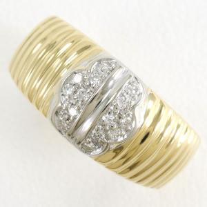 リング K18 18金 YG イエローゴールドWG 指輪 12号 ダイヤ 総重量約5.6g|wonderprice