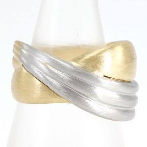 リング PT900 プラチナ K18YG 指輪 10.5号 総重量約7.9g|wonderprice