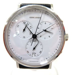 ジョージジェンセン ヘミングコッペル317 クロノ クォーツ 時計 腕時計 メンズ 【中古】【あすつく】|wonderprice