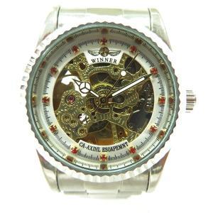 WINNER ウィナー スケルトン 自動巻き 時計 腕時計 メンズ 【中古】【あすつく】|wonderprice
