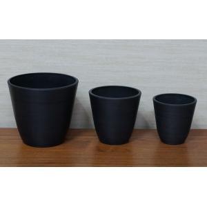 Syntheticpot black Sシリーズ 12.7Φ 黒鉢 プラ鉢 |wonderpurants