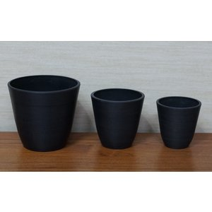 Syntheticpot black Sシリーズ 15Φ 黒鉢 プラ鉢 |wonderpurants