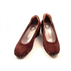 [送料無料] 日本製 Dici(ディッシィ)  とっても履きやすいウエッジソールのパンプス 43832 ワインヌバック wondershoes