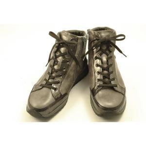 【送料無料】 finncomfort(フィンコンフォート) ハイカットシューズ 2369 TOBLACH レドグレイエナメル・レドグレイ wondershoes