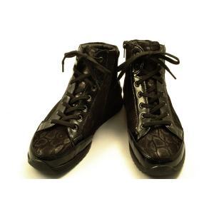 【送料無料】 finncomfort(フィンコンフォート) ハイカットシューズ 2369 TOBLACH ブラックエナメル・ブラックスネーク wondershoes