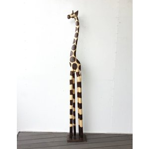 ◆サイズ    高さ181×幅27×奥行17cm ◆材質     天然木 ◆備考       キリン...