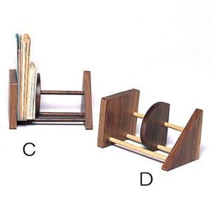 本立て CD立て 木製 フリースタンド C/D  ドリーミィーパーソン 旭川クラフト wood-l