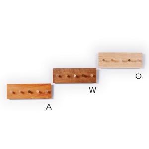鍵かけ 木製  キーハンガー 5  ドリーミィーパーソン 旭川クラフト wood-l