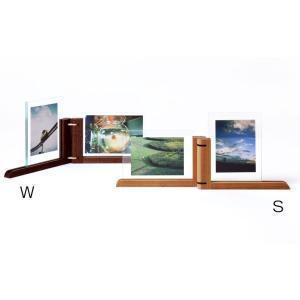 写真立て 木製 ダブルポストカードスタンド  ドリーミィーパーソン 旭川クラフト|wood-l