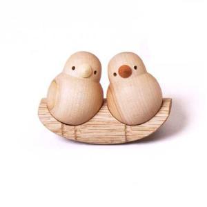 木製 小鳥 夢九鳥(ムクドリ)ゆらゆら ドリーミィーパーソン 旭川クラフト|wood-l