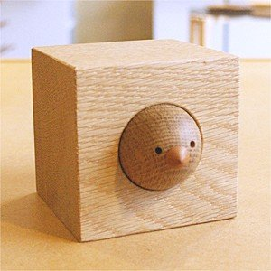 木製 ペーパーウェート 夢九鳥(ムクドリ)キューブ60 ドリーミィーパーソン 旭川クラフト|wood-l