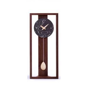 時計 木製 Marble(マーブル)丸-黒 ドリーミィーパーソン 旭川クラフト|wood-l