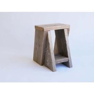 つなげるガーデンスツール つなぐとベンチ 天然木 杉 自然木 室内スツール 踏み台|wood
